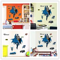 Wholesale Carton Wall Stickers - Carton Stickers Batman Colored Logo Character Vehicle Truck Wall Stickers Superhero Printing Decoration Cool Home Office Wall Decal Sticker