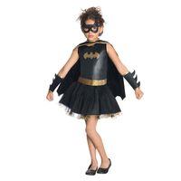 Wholesale Leather Girl Masked - Batman Cartoon Anime Cosplay Costumes Halloween Girls Performance Props Set Eye Mask Gloves Dress Birthday Party Children Gift SD635