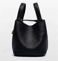 Wholesale Designer Real Leather Tote Bags - 2016 genuine leather bag women shoulder bag brand designer handbags high quality fashion real leather bag shopping