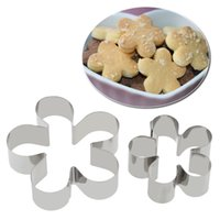 Wholesale Cookie Cutter Petals - 12pcs Stainless Steel Flower Petal Shapes Cake Fondant Cookie Mold Biscuit Candy Mould Cutters DIY Decorating Tools Baking Kit