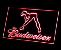 Wholesale Blue Dancer - b-02 Budweiser Exotic Dancer Stripper Bar beer LED Neon Light Sign