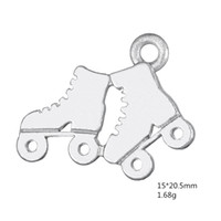 Wholesale Roller Skate Charms - New Arrival Fashion DIY Sports Jewelry Roller Skates Shoes Charm Ice Skate Jewelry