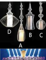 Wholesale Birdcage Style Lighting - 4-Styles Creative Elite Spa Lamp Light Lighting Modern Birdcage Chandelier Droplight Pendant Lights For Living Room Restaurant Lamp MYY1669