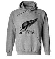 Wholesale New Sport Hoodies - Wholesale-2015 new men brand New Zealand all black hoodies rugby jerseys sweatshirt male hooded sports clothing