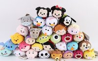 Wholesale top quality mickey mouse frozen plush toys kids child backpack Accessories japanese tsum cartoon mini doll cute small gift souvenir