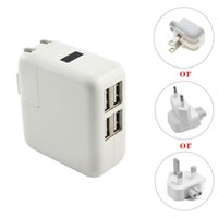 Wholesale Eu Usb Mains Charger - US EU UK plug 4 Ports USB charger Mains Wall Charger for iPad 2 3 4 for iPad mini ,for iPhone 6 4G S 5 for samsung s5 note 3 4