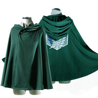Wholesale Titan Shingeki - Anime Shingeki no Kyojin Cloak Cape clothes cosplay Attack on Titan 3 Size