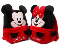 Wholesale Kids Backpack Free Shipping - Kids Minnie Mouse Soft Plush Doll School Backpack 1-3 years by DHL Free Shipping
