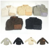 Wholesale Kids Sweaters Wholesale - Kids Sherpa Pullover Chrildren Winter Fall Fleece Soft Hoodie Sweatshirt Oversized 1 4 Button Sweaters OOA3494