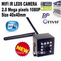 câmeras ip sem fio pequeno venda por atacado-Hi3516C 2MP 1080 P Mini Wifi Ir Ip Câmera HD Sem Fio Mais Pequeno Ir Câmera IP Indoor 940nm Ir Led Webcam Câmera de Visão Noturna Cctv