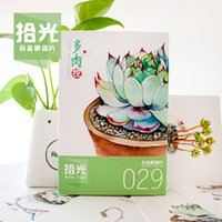 Wholesale Painting Magazines - Wholesale-[ Optical pickup ] succulents succulents control hand-painted postcards magazine 029 30   set^greeting card