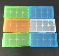 Wholesale fedex pack - Plastic Battery Storage Case Battery Box Storage Container Pack 18650 16340 18350 Battery Holder Box For E Cig Battery Fedex Shipping