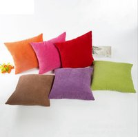Wholesale cheese cover online - 45 cm Plush Velvet Pillow Case Striped Corduroy Plush Velvet Cushion Cover For Sofa Cream Cheese Home Dec OOA3642
