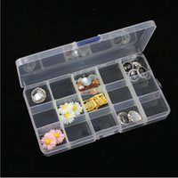 Wholesale Tiny Plastic Storage Boxes - 500pcs lot Adjustable Compact 15 Grids Compartment Plastic Tool Container Storage Box Case Jewelry Earring Tiny Stuff Boxes Containers