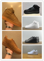 Wholesale Court Force - 2018 New arrival High-quality Fashion Forces Men Women One 1 Running Shoes Low high Cut All White Black Colour Casual Sneakers