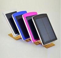 Wholesale Solar Panel Bank Power - 100% full capacity 10000mah Solar 2 USB Battery Panel Mobile Phone Power Bank External Battery Charger forall phone ecternal battery series
