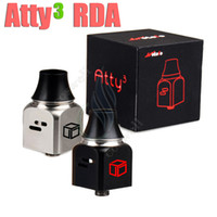 Wholesale Cube Cap - New ATTY3 RDA Mods Rebuildable atomizer ATTY3 Atty 3 V3 wotofo vaporizer mod 22mm chuff cap 510 drip tips Magic Cubed RBA Tank