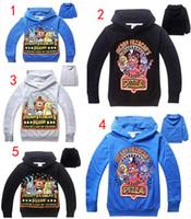 Wholesale Kids Bear Hoodie - Five Nights At Freddy's DHL 5 Design Children Hoodie boy Captain bear Long sleeve Hoodie jacket kids coat sweet girl B001