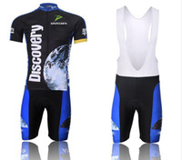 Wholesale Discovery Short - 2016 discovery Short Sleeve Cycling jersey bicycle bike wear shirt and bibs shorts or shorts Size :S ~5XL
