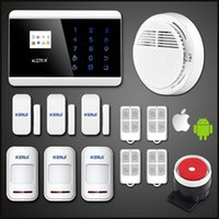 Wholesale 99 zones gsm for sale - LS111 New wireless zones APP Autodial GSM PSTN Touch LCD Burglar Voice House Protection Autodial Secure Fire Smoke Alarm Detector