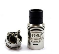 2015 GA RDA Rampage Competition RBA Golden Armor Mode clone Aço inoxidável Rebuildable Dripping Umbrella top cap e cigs mod Atomizer