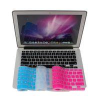 autocollants pomme 13 achat en gros de-Autocollants Clavier Silicone Peau Couverture pour Apple pour Macbook Pro MAC 13