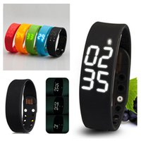 2017 Rushed Step W2 Smart Band Watch Sottile Braccialetto Wristband Fitness Tracker 3d Pedometro Sonno Monitor Termometro Fuelband Time Display