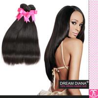 Wholesale Brazilian Virgin Hair Uk - Mocha Hair Brazilian Straight 4bundles Jet Black Virgin Straight Hair 7a Best Quality Brazilian Human Hair Extensions Uk On line