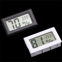 Wholesale Digital Temperature Humidity Thermometer - Mini Digital LCD Indoor Convenient Temperature Sensor Humidity Meter Thermometer Hygrometer Gauge Free Shipping