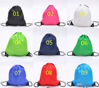 Wholesale Promotions Marketing - High Quality Drawstring Tote bags waterproof Backpack folding bags Marketing Promotion drawstring shoulder bag Storage Bags 300Pcs