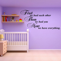 Wholesale wall art d - FIRST WE HAD EACH OTHER Vinyl Wall Sticker Art Decal for Room Decor