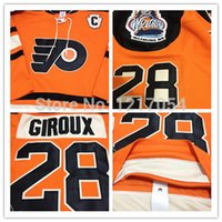 Wholesale Cheap Nhl Patches - Factory Outlet, Cheap NHL JERSEY Philadelphia Flyers #28 Claude Giroux Authentic 2012 Winter Classic Jerseys Orange Cream C Patch