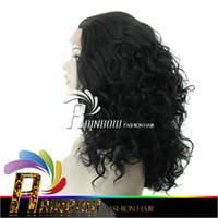 Wholesale Blonde Black Mix Cosplay Wigs - Free shipping wigs for black women & glueless full lace wigs brazilian virgin hair weave curly wig for african american
