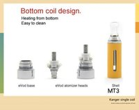 Wholesale Evod Head Mt3 - Kanger evod mt3 kit coil head,mt3 clearomizer coil hot sell products free shipping by DHL