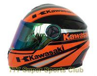 kask motosikletleri yarışı toptan satış-Kawasaki Marka Motosiklet Tam Yüz Kask Erkekler / kadınlar Motosiklet Yarış Kaskları Capacete Kasko NOKTA Onaylı