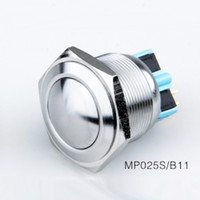 Wholesale 12v Horn Switch - Automotive 12v 220v 24v 250v Momentary Metal anti vandal Push Button Switch 25MM Waterproof IP67 latching on off PUSH START SWITCH-BOAT HORN
