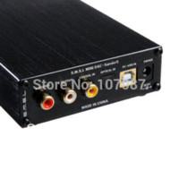 Wholesale Usb Dac Converter - Free shipping 2014 New Version SMSL Sanskrit 24BIT 192Khz Coaxial&Optical Input USB DAC Black dac converter dac box