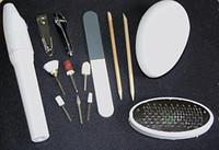 Wholesale Pedicure Grinders - Wholesale-Electric nail Kit 12PCS Set pedicure Toenail Drill File Grinder Nail clipper shine manicure stick pedi mate On TV AY219-SZ