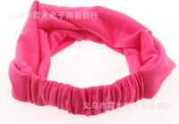 Wholesale Spandex Hair Bands - The Korean version joker cotton ultra wide hair band Spandex elastic lead the hoop Europe and the United States temperament hair turban net