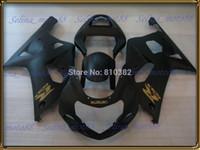 carenado negro mate gsxr al por mayor-Kit de carenado de motocicleta para SUZUKI GSXR 600 750 01 02 03 600 GSXR GSX-R750 K1 2003 2001 2002 paneles negro mate cuerpo PM10