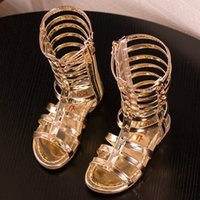 Wholesale Size Barefoot Sandals - Hug Me Gilrs Sandals 2016 new Kids shoes girls sandals summer princess casual barefoot gladiator Roma sandals for girls BB-559