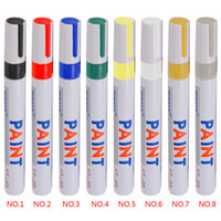 Wholesale tyre tread - Universal Waterproof Permanent Paint Marker Pen Car Tyre Tire Tread Rubber Metal can Marks on Most Surfaces