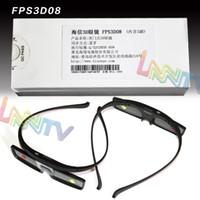 Wholesale Wholesale Hisense - Wholesale-New Genuine 4pcs with gift box Hisense FPS3D08 3D Active Shutter Glasses eyewear RF based for 2015 K680 Series TV free shipping