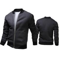 ingrosso uomini di moda veste-Autunno-2015 marchio di moda casual bomber uomini all'aperto cappotti veste homme jaqueta moleton masculina chaqueta hombre casaco a90