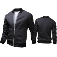 fall mäntel großhandel-Herbst-2015 Mode Marke Casual Bomber Jacke Männer Outdoor Mäntel Veste Homme jaqueta Moleton Masculina Chaqueta Hombre Casaco A90