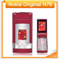 Wholesale Cheap Mobile Accessories - Cheap Sale Nokia N76 Original Mobile Phone Support English Russian Keyboard single sim card GSM refurbished mobile phone