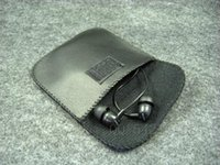 Wholesale Leather Earphone Cases - Leather Pouch Carry Case Bag for headphone earphone usb cable 500pcs lot by FedEx free