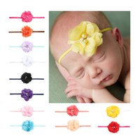 Новый шаблон Европейский Kids Hair Accessorise Gilr Head Flower 2 Drill 2 Pearl Single 4 Trailers Baby Hair Decorate 10 Color