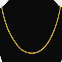 Wholesale Mens Heavy Gold Chains - Wholesale-Heavy MENS 18K SOLID GOLD FILLED FINISH THICK MIAMI CUBAN LINK NECKLACE CHAIN JP051