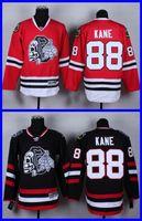 Wholesale Blackhawk Full - 2016 NEW Chicago Blackhawk Jerseys Patrick Kane #88 White SKULL Men's Ice Hockey Jersey Black Red,Cheap Wholesale